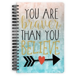 Inspirational Quotes Spiral Bound Notebook (Personalized)