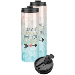 Inspirational Quotes Stainless Steel Skinny Tumbler