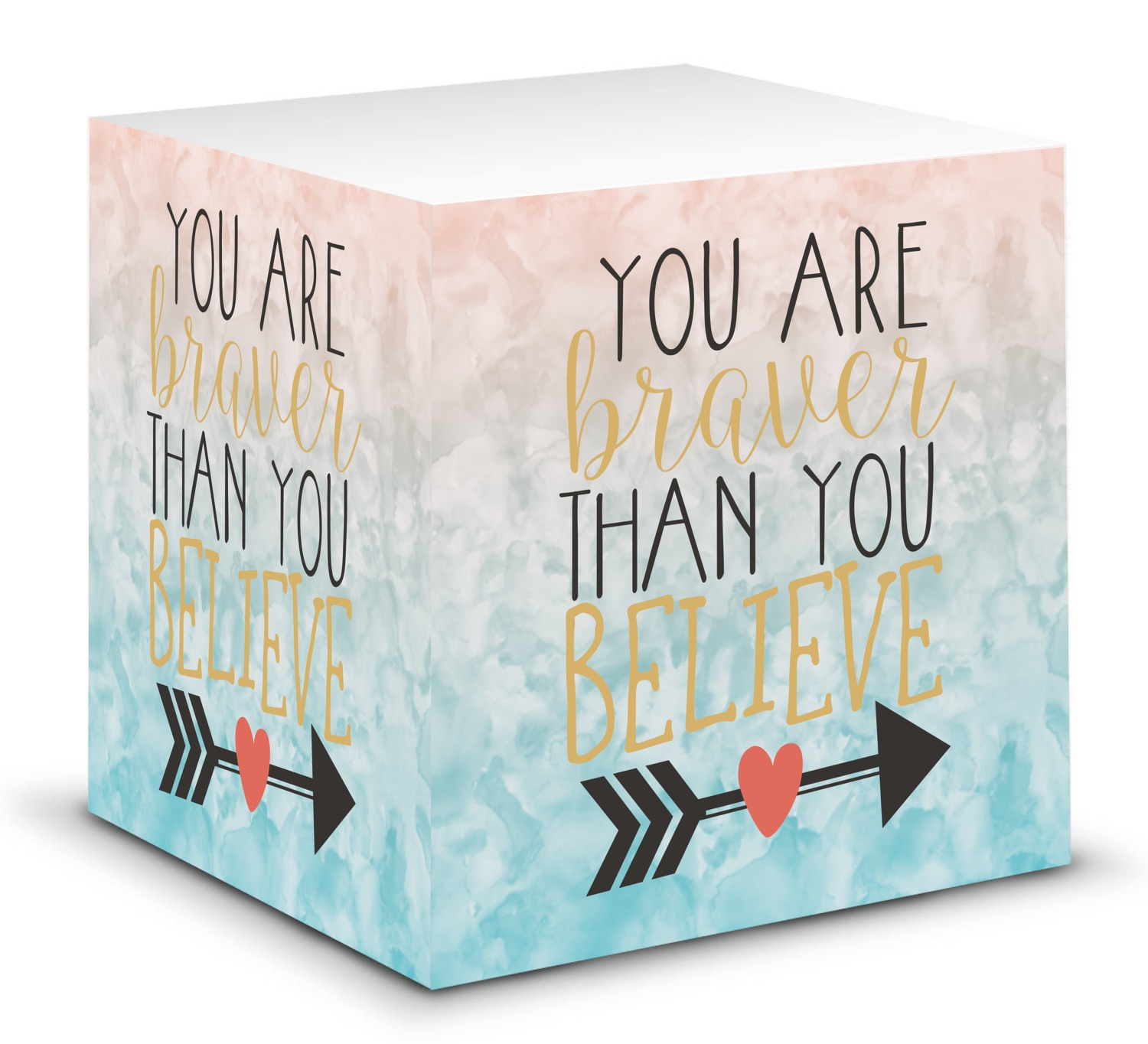 Quotes On Sticky Notes: Inspirational Quotes Sticky Note Cube (Personalized