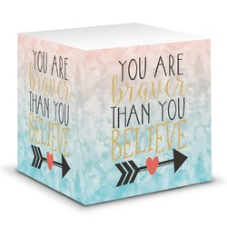 Inspirational Quotes Sticky Note Cube (Personalized)