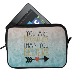 Inspirational Quotes Tablet Case / Sleeve (Personalized)