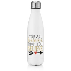 Inspirational Quotes Tapered Water Bottle - 17 oz. - Stainless Steel