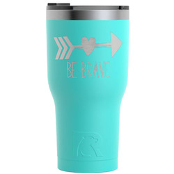 Inspirational Quotes RTIC Tumbler - Teal - 30 oz (Personalized)