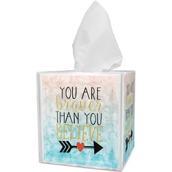 Inspirational Quotes Tissue Box Cover (Personalized)