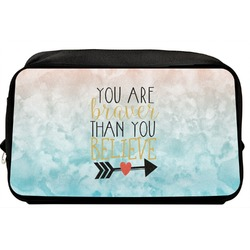 Inspirational Quotes Toiletry Bag / Dopp Kit (Personalized)