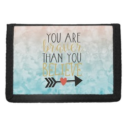 Inspirational Quotes Trifold Wallet (Personalized)