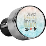 Inspirational Quotes USB Car Charger (Personalized)