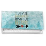 Inspirational Quotes Vinyl Checkbook Cover (Personalized)