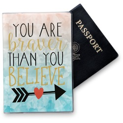 Inspirational Quotes Vinyl Passport Holder