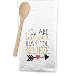 Inspirational Quotes Waffle Weave Kitchen Towel (Personalized)