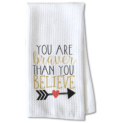 Inspirational Quotes Waffle Weave Kitchen Towel - Partial Print
