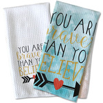 Inspirational Quotes Waffle Weave Kitchen Towel