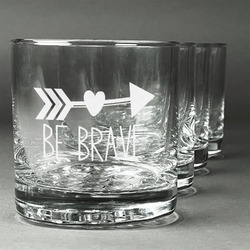 Inspirational Quotes Whiskey Glasses (Set of 4) (Personalized)