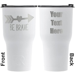 Inspirational Quotes RTIC Tumbler - White - Engraved Front & Back (Personalized)
