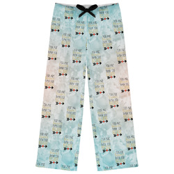Inspirational Quotes Womens Pajama Pants - XL (Personalized)