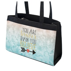 Inspirational Quotes Zippered Everyday Tote (Personalized)