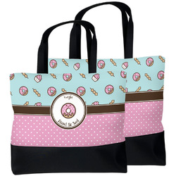 Donuts Beach Tote Bag (Personalized)