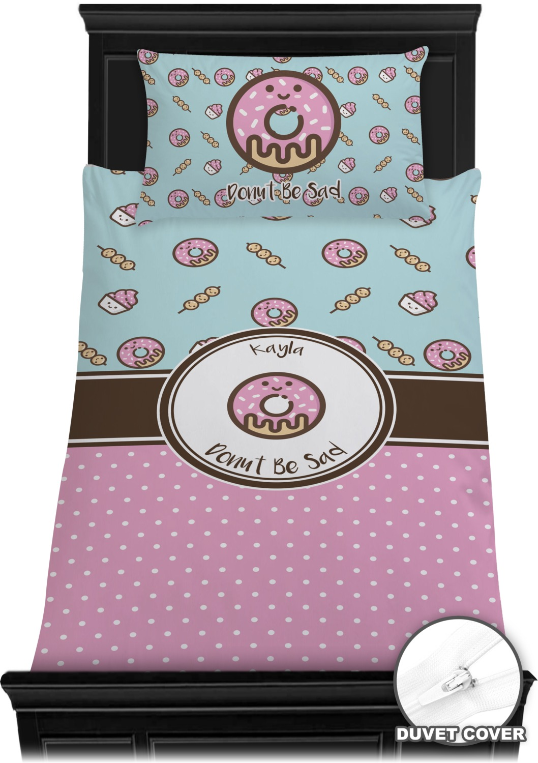 Donuts Duvet Cover Set Twin Personalized Youcustomizeit