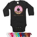 Donuts Long Sleeves Bodysuit - 12 Colors (Personalized)