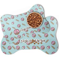 Donuts Bone Shaped Dog Food Mat (Personalized)