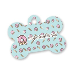 Donuts Bone Shaped Dog Tag (Personalized)
