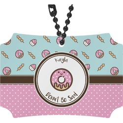 Donuts Rear View Mirror Ornament (Personalized)