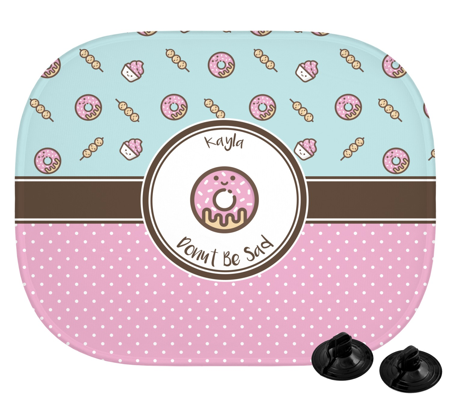 Donuts Car Sun Shade Personalized Youcustomizeit