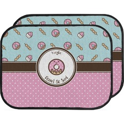 Donuts Car Floor Mats (Back Seat) (Personalized)