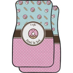 Donuts Car Floor Mats (Front Seat) (Personalized)