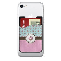 Donuts 2-in-1 Cell Phone Credit Card Holder & Screen Cleaner (Personalized)