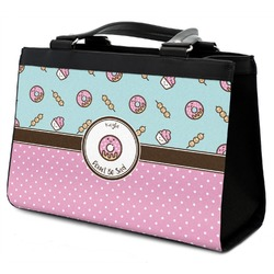 Donuts Classic Tote Purse w/ Leather Trim (Personalized)
