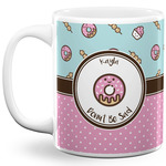 Donuts 11 Oz Coffee Mug - White (Personalized)