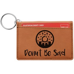 Donuts Leatherette Keychain ID Holder (Personalized)