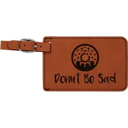 Donuts Leatherette Luggage Tag (Personalized)