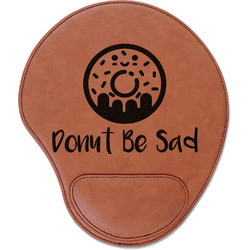 Donuts Leatherette Mouse Pad with Wrist Support (Personalized)