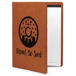 Donuts Leatherette Portfolio with Notepad (Personalized)