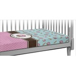 Donuts Crib Fitted Sheet (Personalized)