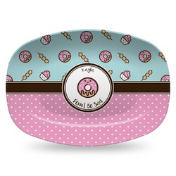 Donuts Plastic Platter - Microwave & Oven Safe Composite Polymer (Personalized)