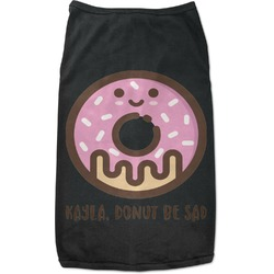 Donuts Black Pet Shirt (Personalized)