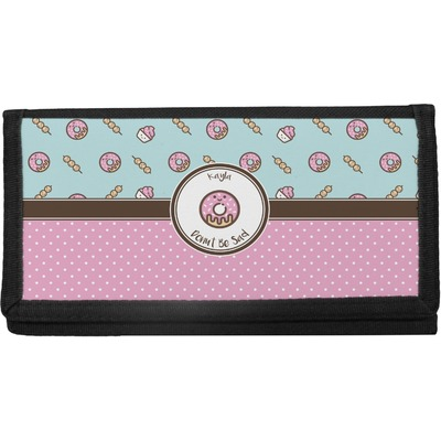 Donuts Canvas Checkbook Cover (Personalized)