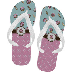 Donuts Flip Flops - XSmall (Personalized)