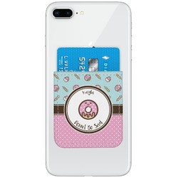 Donuts Genuine Leather Adhesive Phone Wallet (Personalized)