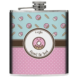 Donuts Genuine Leather Flask (Personalized)