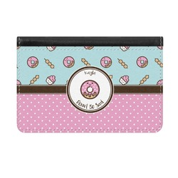 Donuts Genuine Leather ID & Card Wallet - Slim Style (Personalized)