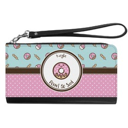 Donuts Genuine Leather Smartphone Wrist Wallet (Personalized)