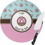 Donuts Round Glass Cutting Board (Personalized)
