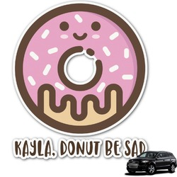 Donuts Graphic Car Decal (Personalized)