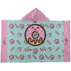 Donuts Kids Hooded Towel (Personalized)
