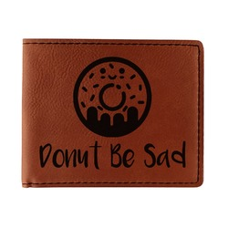 Donuts Leatherette Bifold Wallet (Personalized)