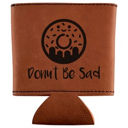 Donuts Leatherette Can Sleeve (Personalized)